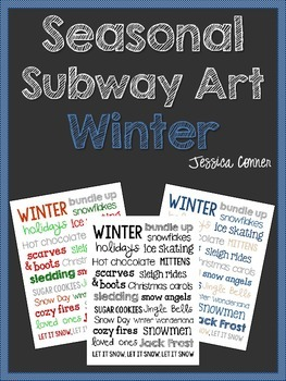 Seasonal Subway Art: Winter