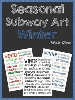Seasonal Subway Art: Winter