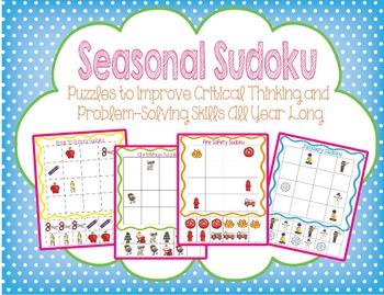 Seasonal Sudoku : Critical Thinking and Problem Solving Pu