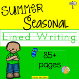Seasonal Summer Lined Writing Paper