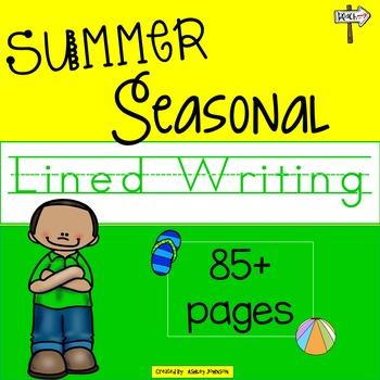 Seasonal Summer Lined Writing Paper
