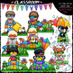 Seasonal Superhero Kids - Clip Art & B&W Bundle 1 (4 Sets)