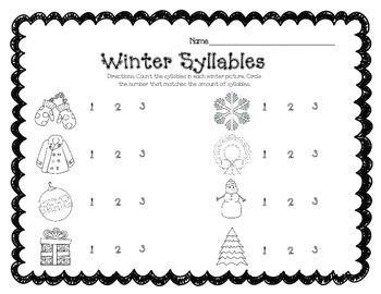 Seasonal Syllables
