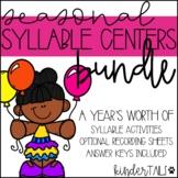 Seasonal Syllables Centers Bundle