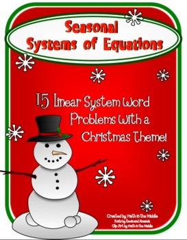 Seasonal Systems of Equations Word Problems