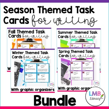 Seasonal Task Card Bundle-For Writing