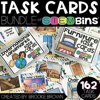 Seasonal Task Cards for STEM Bins™