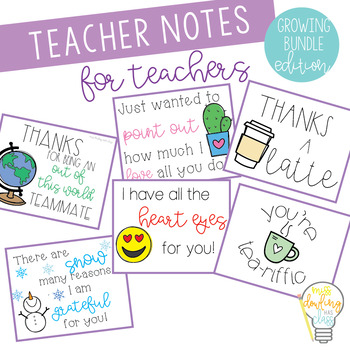Teacher to Teacher Appreciation Notes Bundle