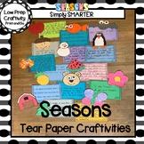 Seasonal Tear Paper Writing Craftivities BUNDLE