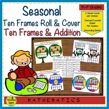 Ten Frame Seasonal Roll & Cover Math Games