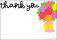 Seasonal Thank You Cards for Teachers & SLPs