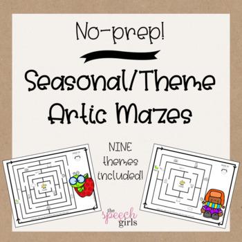 Seasonal & Themed Articulation Mazes