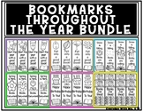 Seasonal Themed Book Bookmarks Throughout The Year Bundle