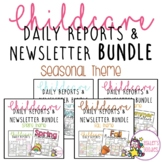 Seasonal Themed Childcare Daily Reports/Newsletters BUNDLE