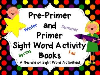 Seasonal-Themed Interactive Sight Word Activity Books-Bundle