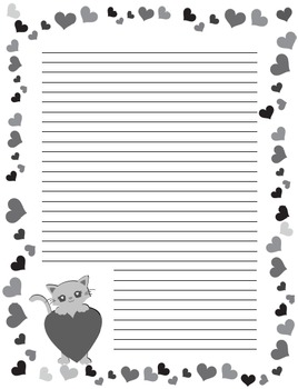 Seasonal Themed Monthly Document Frames / Stationery - Black and White