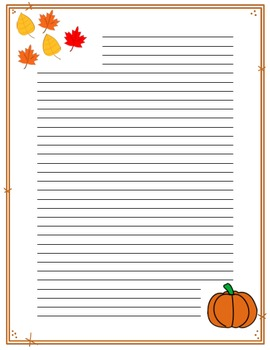 Seasonal Themed Monthly Document Frames / Stationery - Color