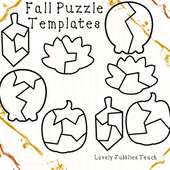 Seasonal Themed Puzzle Template Bundle