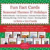 Seasonal Themes and Holidays Fun Fact Cards BUNDLE - Seaso