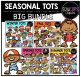 Seasonal Tots Clip Art Big Bundle {Educlips Clipart}