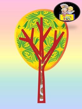 Seasonal Trees - Clip Art - Fall - Winter - Spring - Summer