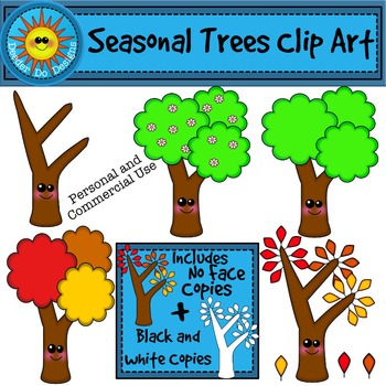 Seasonal Trees Clip Art