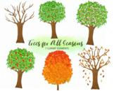 Seasonal Trees Nature Clipart