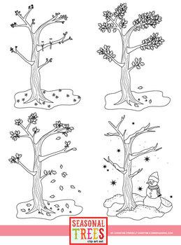 Seasonal Trees for the 4 Seasons Clip Art Set