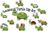 Seasonal Turtle Clip Art
