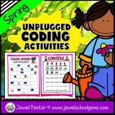 Seasonal Unplugged Coding Activities (Spring Coding Unplug