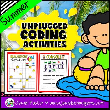 Seasonal Unplugged Coding Activities (Summer Coding Unplugged Activity)