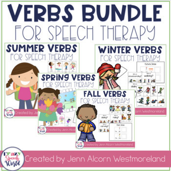 Seasonal Verbs Speech Therapy Bundle!