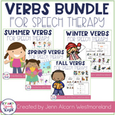 Seasonal Verbs Speech Therapy Bundle!