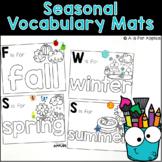 Seasonal Vocabulary Mats