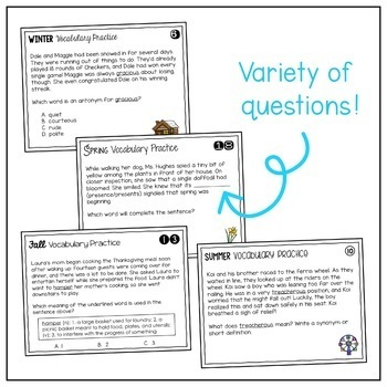 Vocabulary Skills Task Cards Bundle