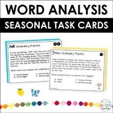 Seasonal Word Analysis Skills Task Cards Bundle