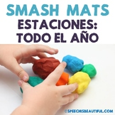 Seasonal Vocabulary Smash Mats - NO PREP in SPANISH Speech