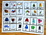 Seasonal Vocabulary Words Matching Mats Growing Bundle