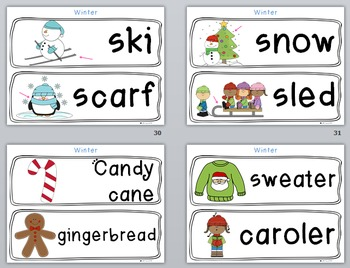 Seasonal Vocabulary Words (with holidays!) Buy and $ave!