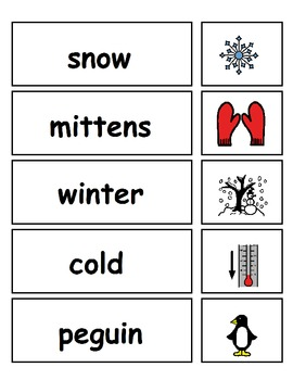 Seasonal Vocabulary for the ESE Classroom