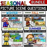 DISTANCE LEARNING-NO PRINT-Seasonal WH Questions picture s