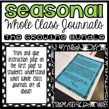 Seasonal Whole Class Journals (Growing Bundle)