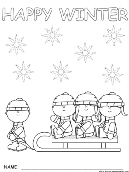Seasonal Winter Synonym and If...then coloring pictures