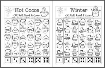 Seasonal (Winter, Spring, Summer, and Fall) CVC Roll, Read