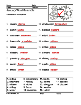 Seasonal Winter Worksheets, Coloring Pages and Printables Fun Pack
