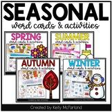 Seasonal Word Cards and Activities BUNDLE