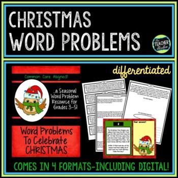 Seasonal Word Problem Collection: Christmas Grade 3-5