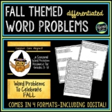 Seasonal Word Problem Collection: Fall!  Grade 3-5