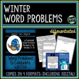 Seasonal Word Problem Collection: Winter Grade 3-5