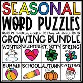 Seasonal Word Puzzles GROWING BUNDLE